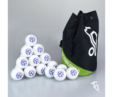 Kookaburra Combideal 24 Dimple Vision Hockeyballs White with Ballbag