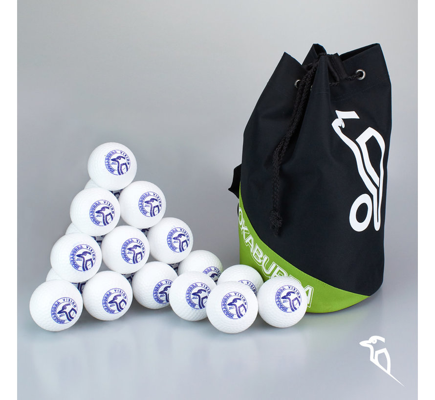 Combideal 24 Dimple Vision Hockeyballs White with Ballbag