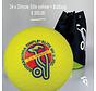 Combideal 24 Dimple Elite Hockeyballen Geel met Ballentas
