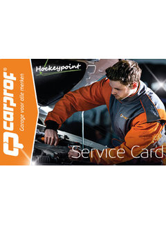 Hockeypoint Carprof 24/7 SERVICE CARD only for Dutch buyers