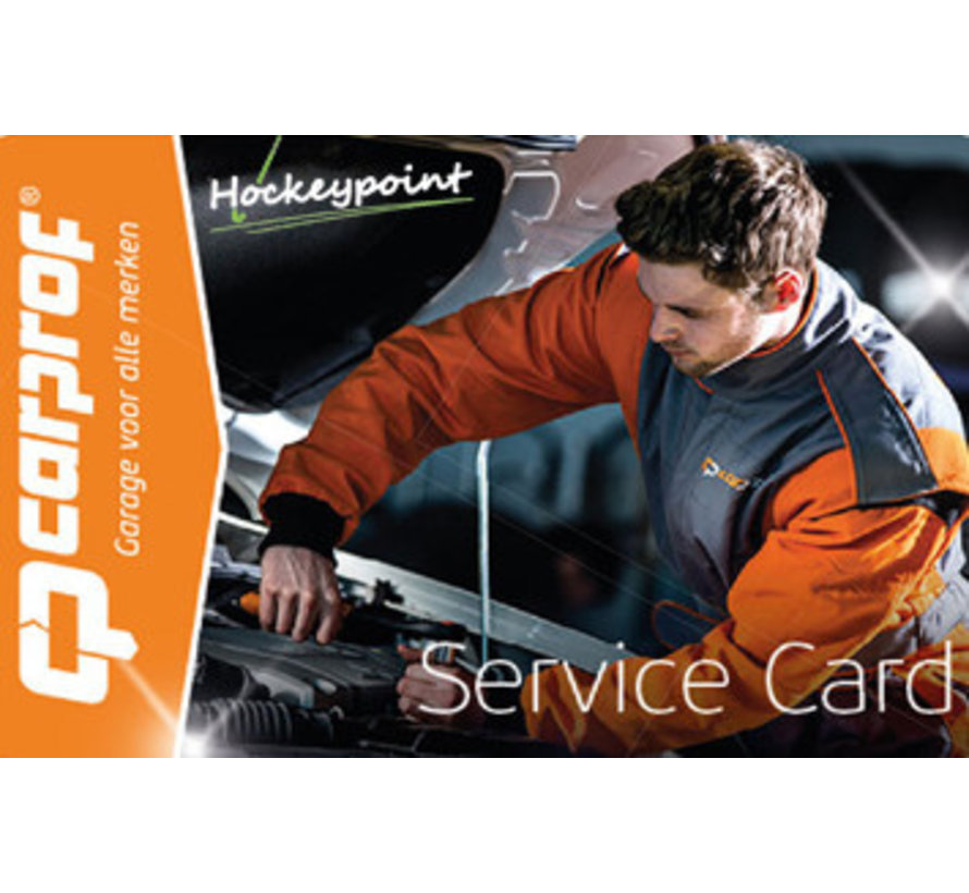 Carprof 24/7 SERVICE CARD bij aankoop meer dan € 75,00 aan nieuwe collectie