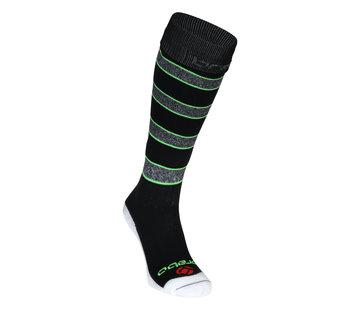 Brabo Sokken Rugby Zwart/Groen