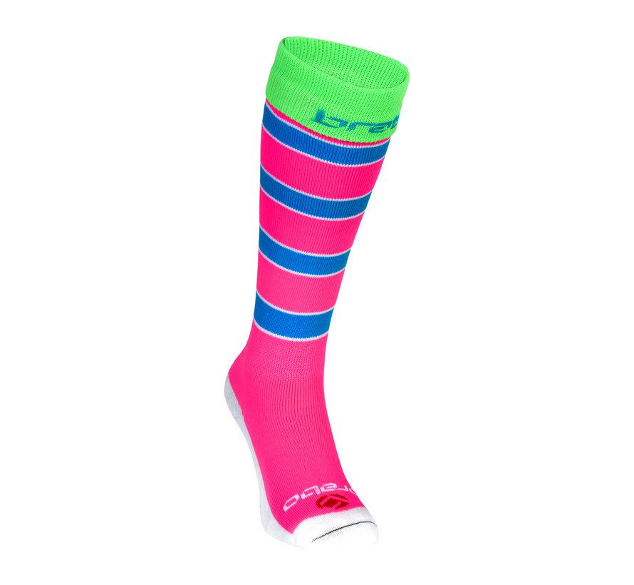 Socken Rugby Pink/Blau