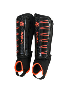 Brabo Shinguards F4 with ankle sock Black/Orange