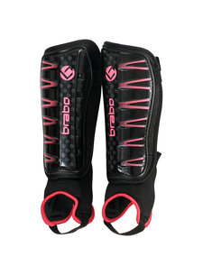 Brabo Shinguards F4 with ankle sock Black/Pink