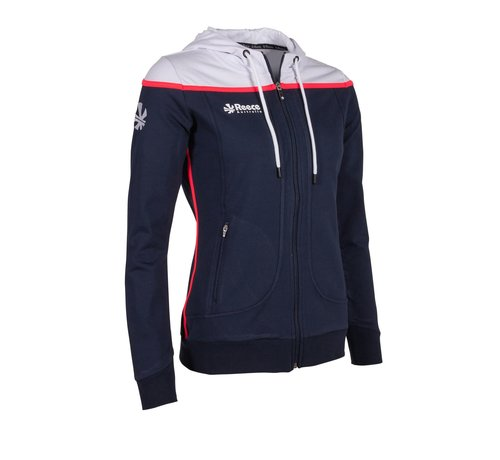 Reece Varsity Hooded Sweat FZ Damen Navy/Weiß