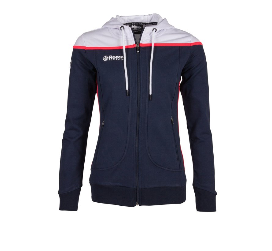 Varsity Hooded Sweat FZ Damen Navy/Weiß