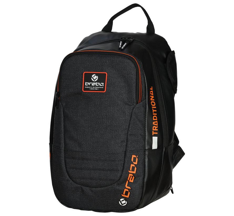 Backpack Traditional Junior Zwart/Oranje