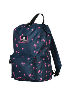 Brabo Backpack Storm Palms Navy/Pink