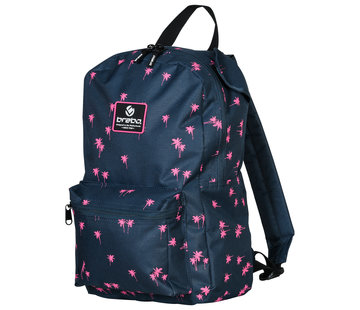 Brabo Backpack Storm Palms Navy/Pink