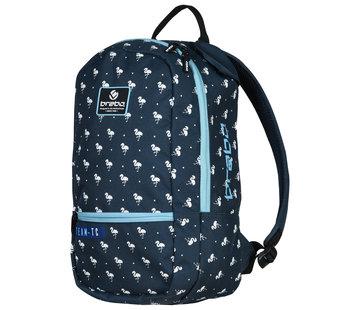 Brabo Backpack Flamingo Blauw/Wit