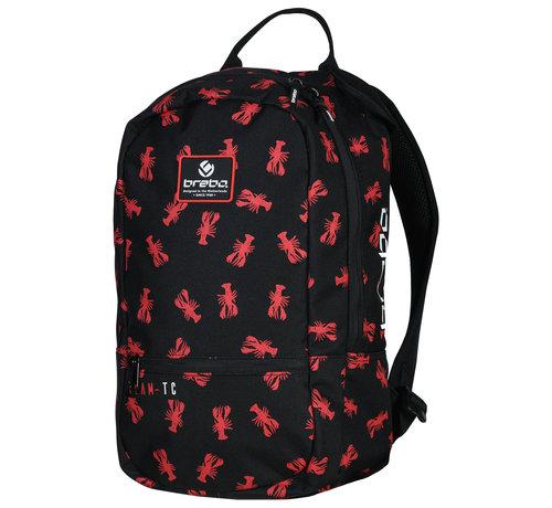 Brabo Backpack Lobster Zwart/Rood