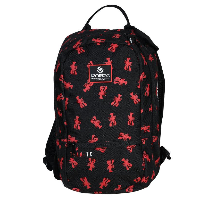 Backpack Lobster Zwart/Rood