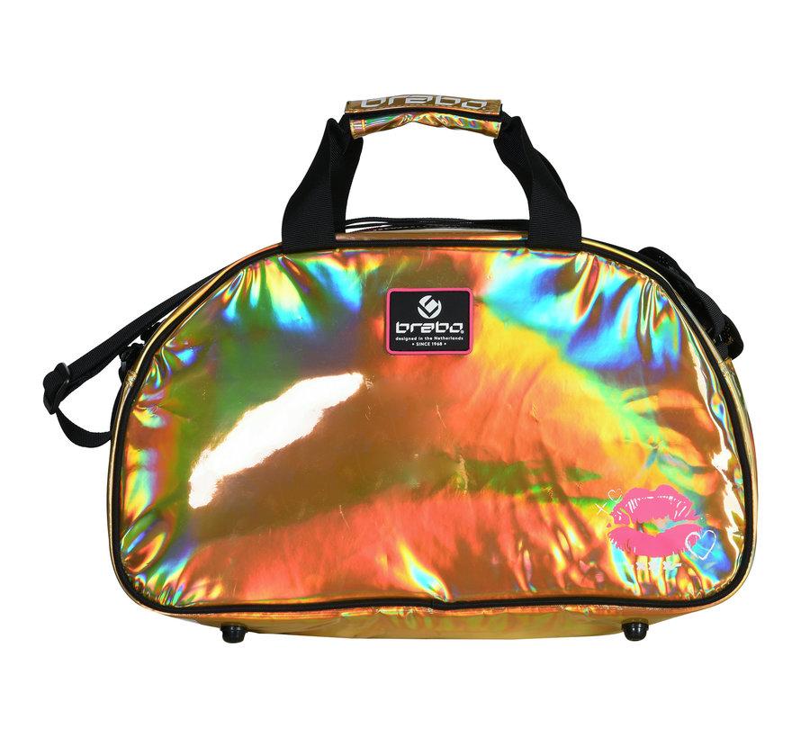 Shoulderbag Mirror Kiss Grijs/Oranje