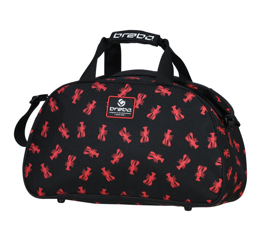 Schultertasche Lobster Schwarz/Rot