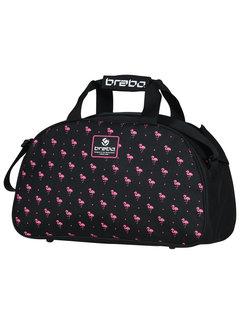 Brabo Schultertasche Flamingo Schwarz