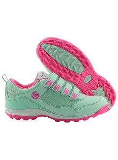 Brabo Hockeyschuhe Velcro Minze/Pink