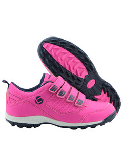 Brabo Hockey shoes velcro Fluo Pink