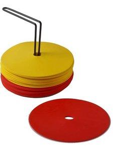 Sportec Rubber Marking dots 15 cm incl holder