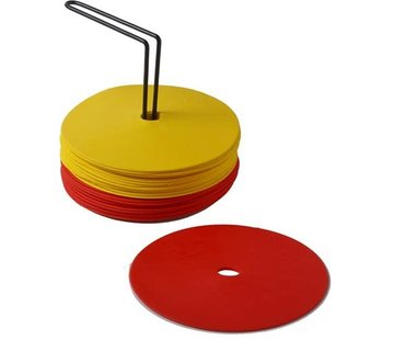 Sportec Rubber Marking dots 15 cm incl holder