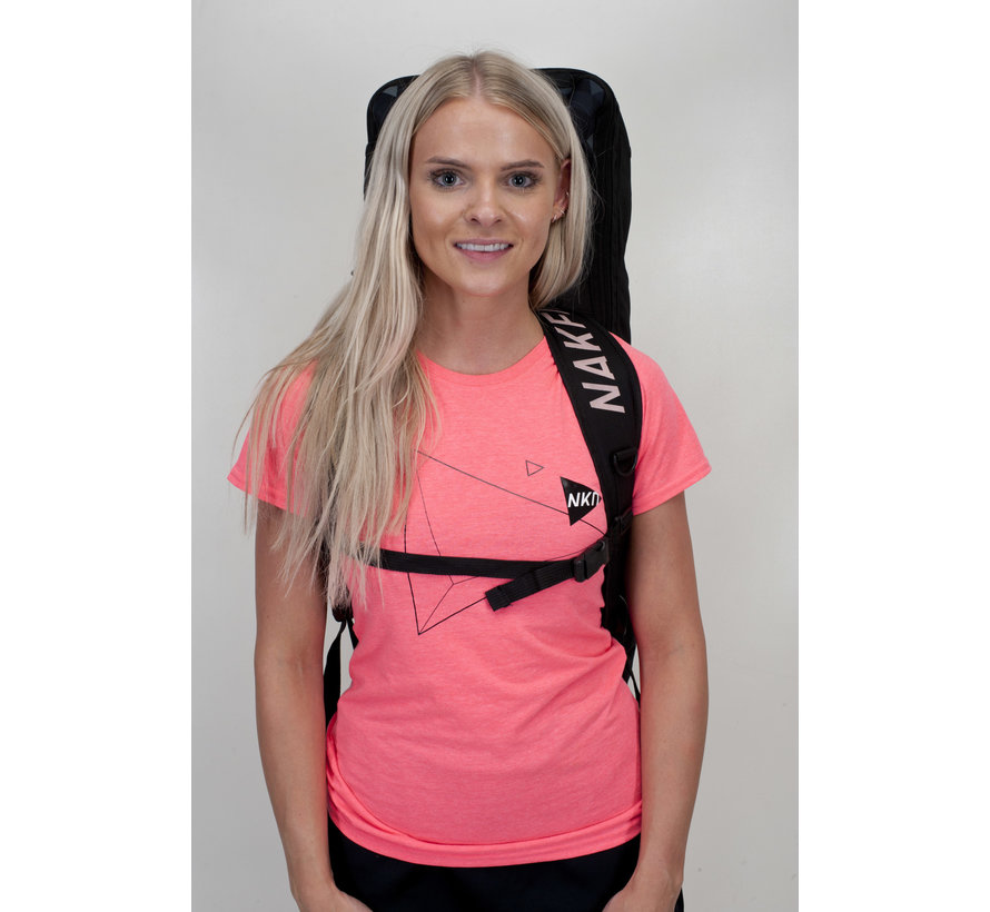 Ladies Naked Triangle Tee Roze