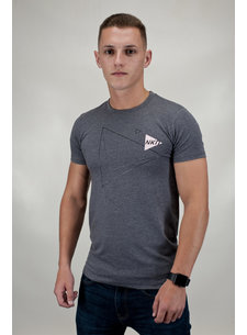 Naked Men's Naked Triangle Tee Grijs