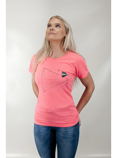 Naked Damen Naked Triangle Tee Pink