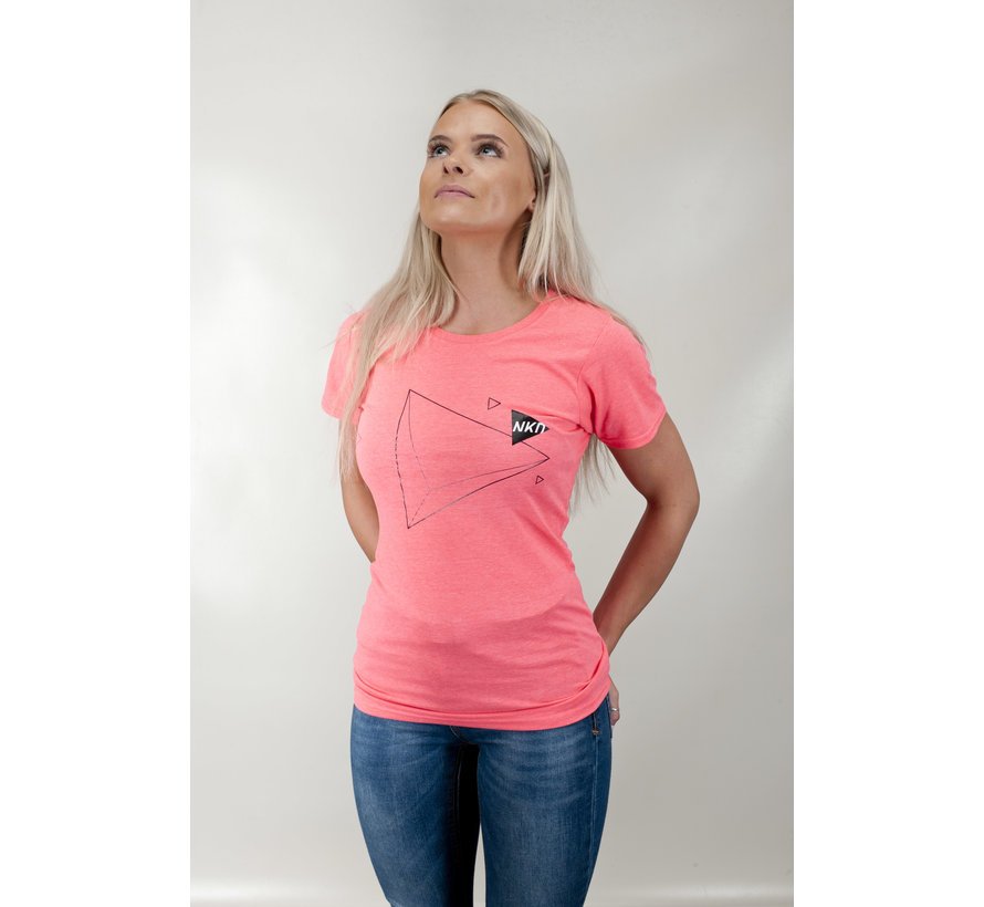 Ladies Naked Triangle Tee Pink