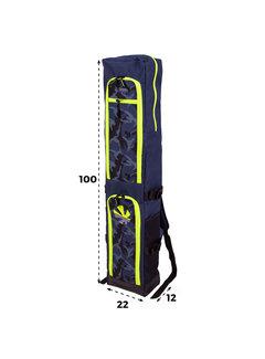 Reece Junior Stick Bag Navy/Geel