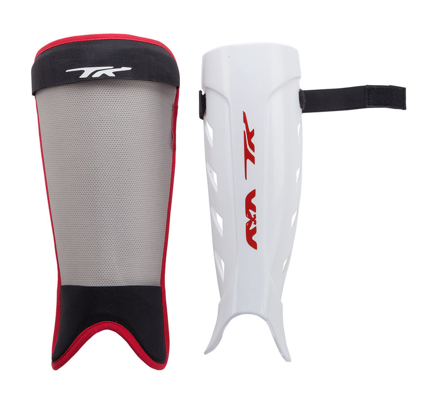 Total Two 2.1 Shinguards Black/Red/White