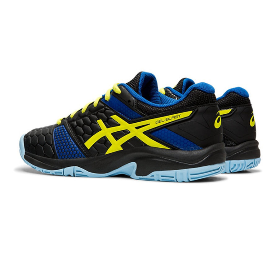 Gel - Blast 7 GS 19/20 Indoor Kids Black/Neon Yellow/Blue