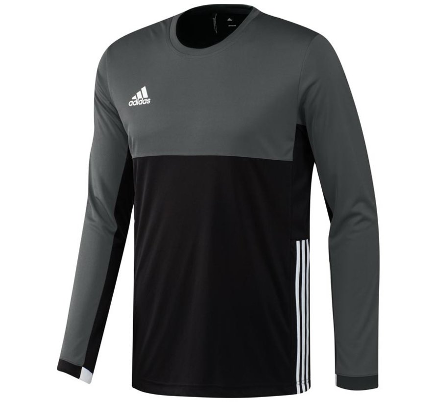 Adidas T16 Climacool L-S Tee Men Zwart/Grijs L