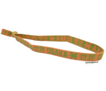Osaka Elastic Hairband Green / Orange