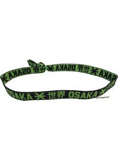 Osaka Elastic Hairband Green / Black
