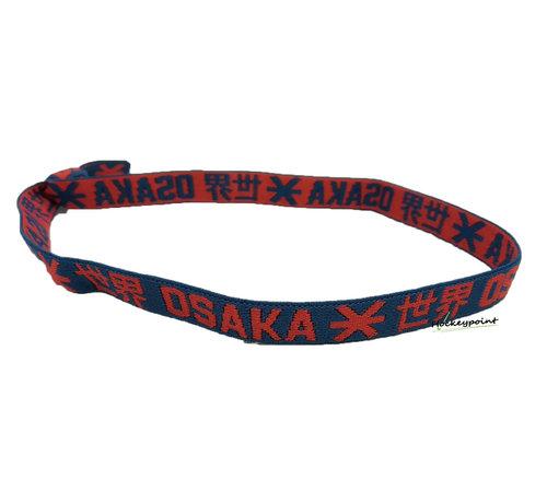Osaka Elastic Hairband Red / Navy