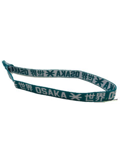 Osaka Elastic Hairband White / Green