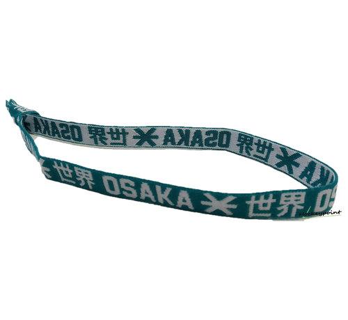 Osaka Elastic Hairband White / Green