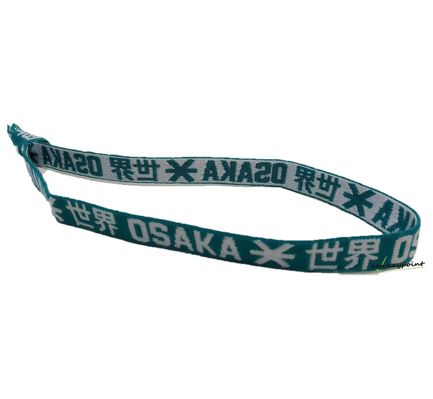 Elastisches Haarband  Weiß / Grün