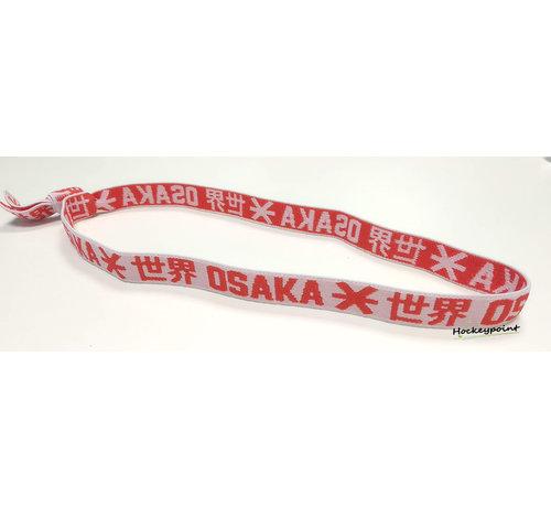 Osaka Elastic Hairband Red / White