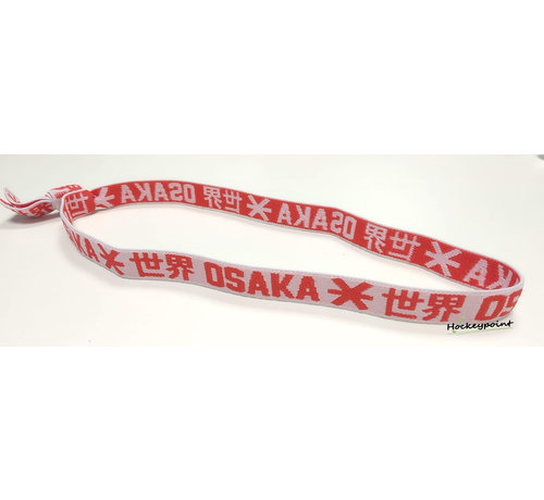 Osaka Elastisches Haarband Rot / Weiß