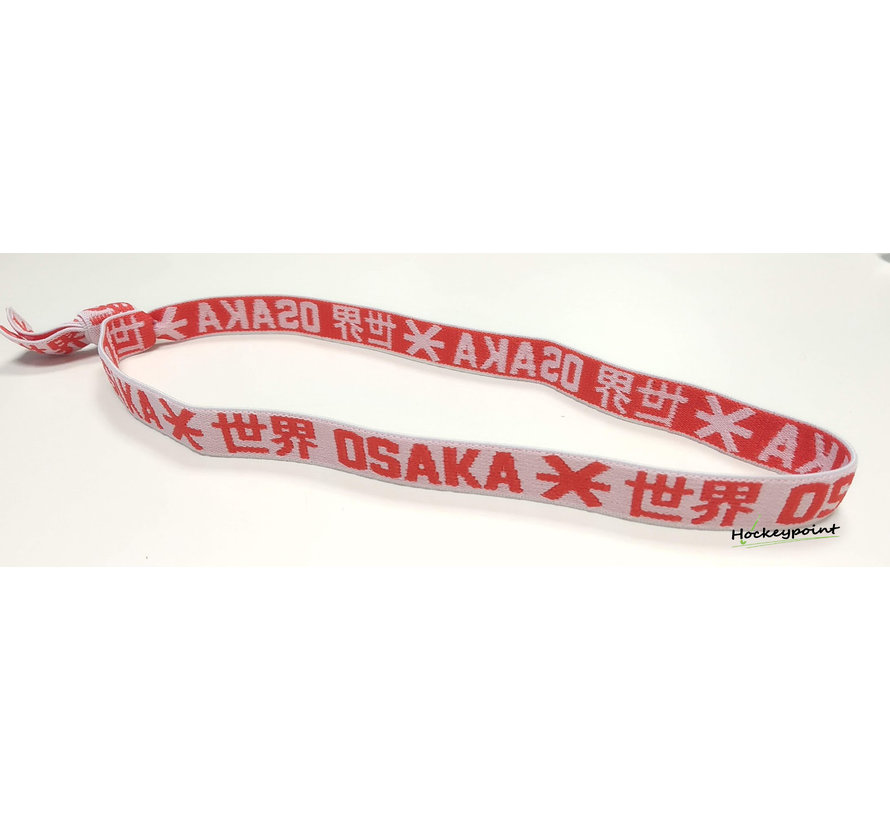 Elastic Hairband Red / White