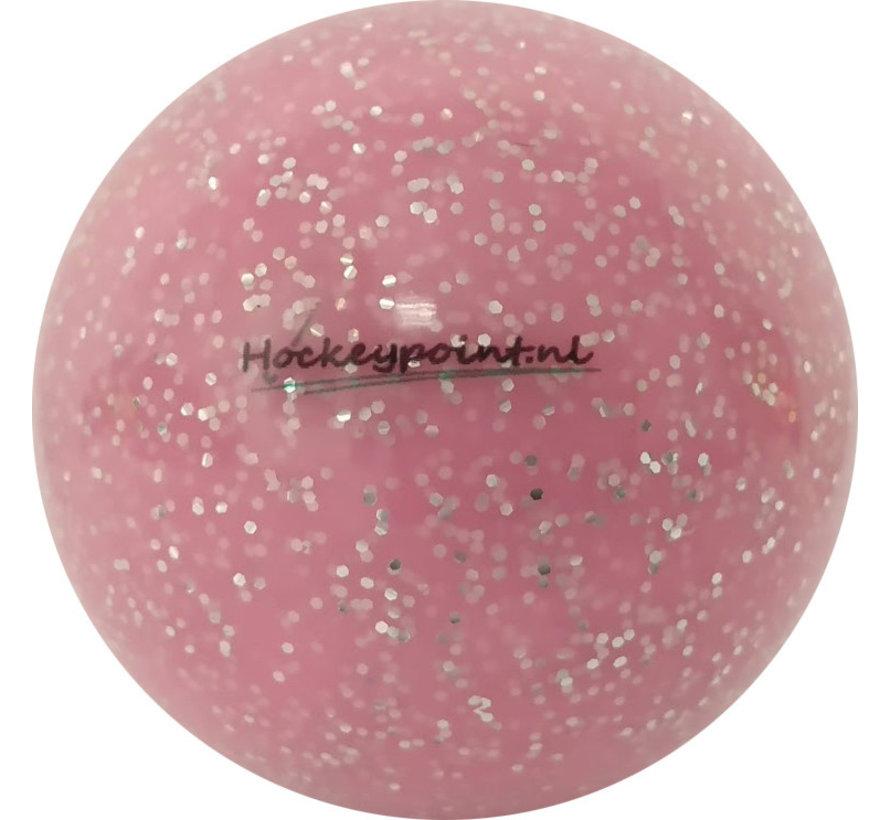 Hockeybal extra Glitter Powder Roze