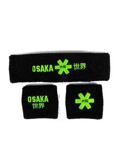 Osaka Sweatband Set Schwarz