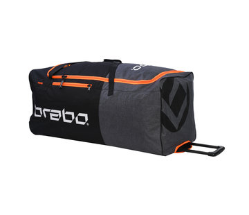Brabo Goalie Bag Wheeled Std Black/Orange