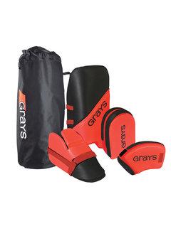 Grays G100 Goalie Set Junior Black/Red