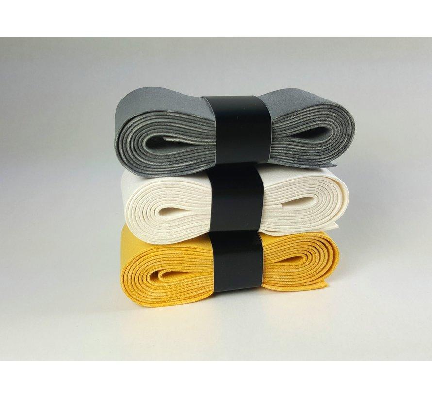 Zeem Assorti (1 wit, 1 geel, 1 grijs)