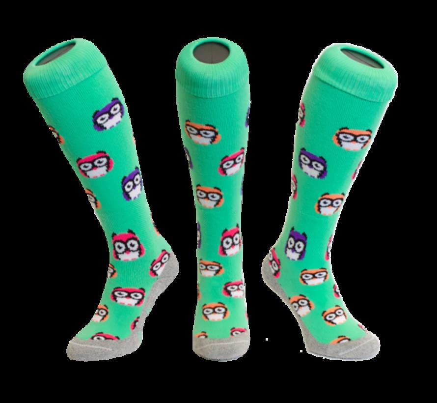 Hockeysok Owl Green