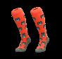 Hockey Socke Eule Orange