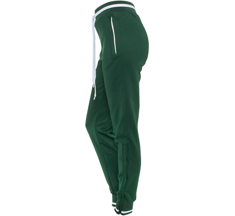 Women's Knitted Pants  Donkergroen