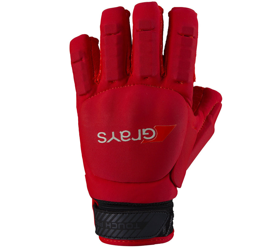 TOUCH PRO Glove Lefthand Neon Rood